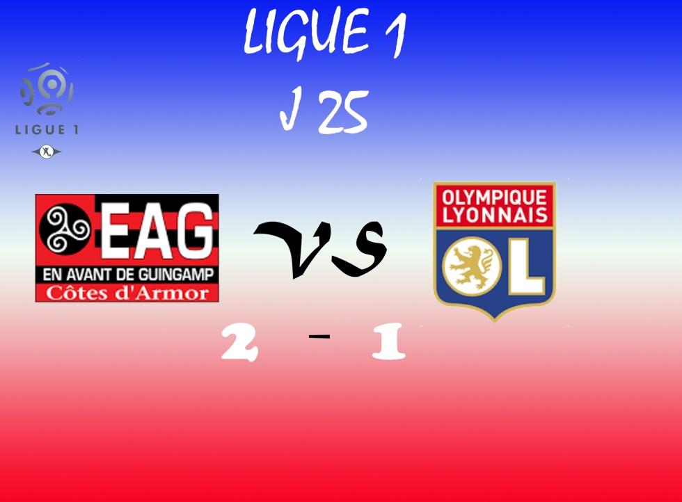 Lyon s'incline à Guingamp et concède un dixième revers en championnat.